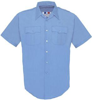 Fechheimer 65R5425 Mens Short Sleeve Police Shirt medium Blue