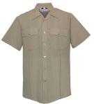 Fechheimer 69R6604 Mens Short Sleeve Police Shirt Silvertan
