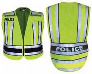 Fechheimer 71500P High Visibility Yellow/Navy Vest Printed Police