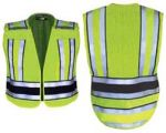 Fechheimer 71500 High Visibility Yellow Pro Safty Vest With Navy B