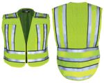 Fechheimer 71510 High Visibility Yellow Pro Safty Vest High Visibility