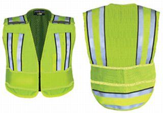 Fechheimer 71520 Hi-Visibility Yellow Pro Convertible Safty Vest