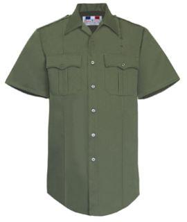 Fechheimer 71R6687 Mens Short Sleeve Berder Patrol Shirt B.P.Green