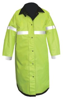 Fechheimer 76120 Black/Yellow Reversible RainCoat 47