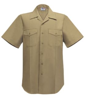 Fechheimer 78S8103 Mens Usn Short Sleeve Khaki Shirt 75%Pol