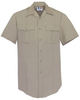 Fechheimer 85R5414 Mens Short Sleeve Police Shirt  Tan 65%Po