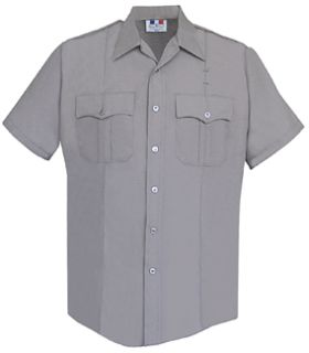 Fechheimer 85R5441 Mens Short Sleeve Police Shirt Silver Grey