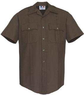 Fechheimer 85R5894 Mens Short Sleeve Bdu Shirt Brown 65%P/35%Cotton