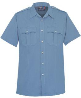Fechheimer 85R7845Z Mens Short SleeveW/ Zipper Brilliant Blue 100% P