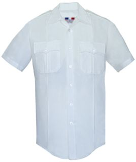 Fechheimer 95R6600 Mens Short Sleeve Police Shirt White 65%