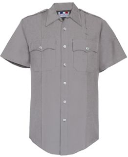 Fechheimer 95R6621 Mens Short Sleeve Light Grey Police Shirt