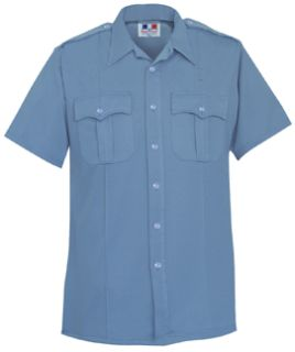 Fechheimer 95R6625 Medium Blue Tropical Short Sleeve Shirt