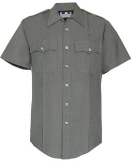 Fechheimer 95R6651 Mens Grey Short Sleeve Shirt