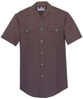 Fechheimer 95R6694 Mens Short Sleeve Police Shirt Dark Brown