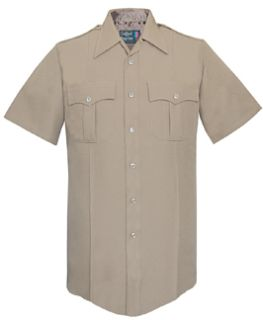 Fechheimer UD12003 Tan Short Sleeve Shirt With Zipper