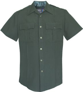 Fechheimer UD12006 Short Sleeve Mens Spruce Green Shirts 100% Poly