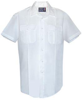 Fechheimer UD12011 WhiteShort Sleeve Female Shirt With Zipper