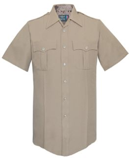 Fechheimer UD12013 Tan Short Sleeve Female Shirt With Zipper