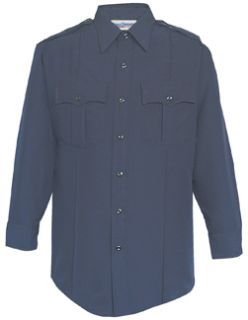 Fechheimer UD12020 Navy Long Sleeve  Shirt With Zipper
