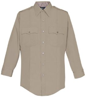 Fechheimer UD12023 Tan Long Sleeve Shirt With Zipper
