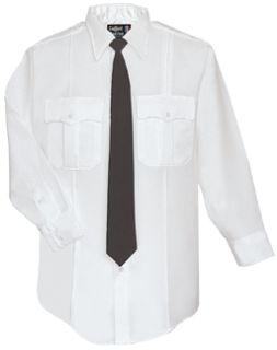Fechheimer UD12031 White Long Sleeve Female Shirt With Zipper