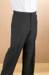 Fabian Couture Group International 2028P Men's Black Polyester Pocketless Pant