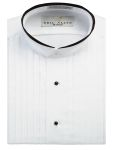 Fabian Couture Group International 2077 Trimmed Banded Collar Tuxedo Shirt
