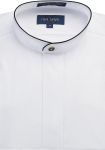 Fabian Couture Group International 2078 Men's White w/Black Trim Banded Shirt
