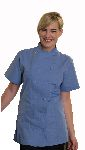 Fame Fabrics C30S 12 Button Female Fitted Short Sleeve Chef Coat