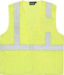 Fame Fabrics S362P ANSI Class 2 Vest Mesh Economy Hi-Viz w/Pockets - Hook & Loop