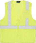 Fame Fabrics S363P ANSI Class 2 Vest Mesh Economy Hi-Viz w/Pockets- Zipper