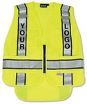Fame Fabrics S368 ANSI 207 PSV Vest Knit Tricot Break-Away Hi-Viz - Zipper Extended Tail