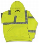 Fame Fabrics S376 ANSI Class 3 Hooded Sweatshirt 7oz Polyester Fleece Hi-Viz - Pull Over