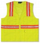 Fame Fabrics S410 Non-ANSI Vest Surveyor's Tricot & Mesh Hi-Viz - Zipper