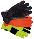 Gloves For Professionals 460-Y Yellow Waterproof Taslon Gloves with Rubbertec Grip
