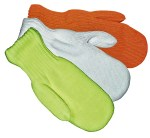 Gloves For Professionals 676 Orange Knit Traffic Mittens