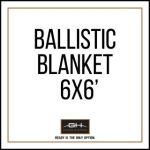 GH Armor Systems  GH-BLKT3A-6X6 GH-BLKT3A-6X6 6'x6' Ballistic Blanket - Pro IIIA, nylon cover with corner and side handles