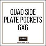 GH Armor Systems  GH-QD1-SIDE-6X6 GH-QD1-SIDE-6X6 QUAD Side Plate Pockets (Pair) - 6x6'