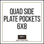 GH Armor Systems  GH-QD1-SIDE-6X8 GH-QD1-SIDE-6X8 QUAD Side Plate Pockets (Pair) - 6x8'