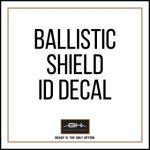 GH Armor Systems  GH-SHB1-ID1 GH-SHB1-ID1 ID Decals for Ballistic Shield