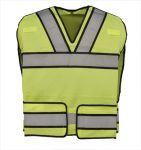 Gerber Outerwear 70ZL, Bright Star Vest w/ Silver Trim - ANSI 207/ANSI 107