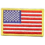 Medium Gold Border US Flag