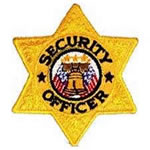 Gold 6 Point Star Security Officer Embroidered Badge