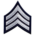 SGT - 3 Wide - White on Navy Chevron