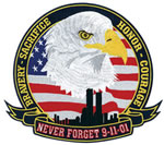 NEVER FORGET - 9-11 12 Emblem
