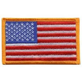 "Hero's Pride 0003HP U.S. FLAG - 3-3/8 x 2"" Dark Gold Border"