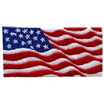 Hero's Pride 26 9/11 Style Wavy Flag Emblem