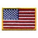 "Hero's Pride 28 U.S. Flag - 1-1/2 X 1"" - Med Gold - Heat Seal'able"