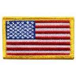 """Hero's Pride 29 U.S. Flag - 2-1/2 X 1-1/2"""" - Med Gold"""