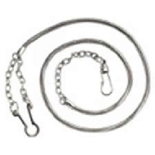Hero's Pride 4020N Whistle CHAIN with Button Style Hook - Nickel